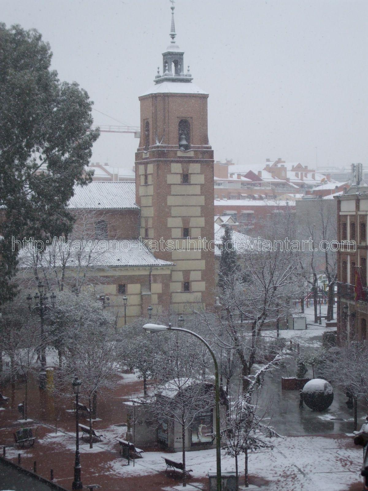 Snow in Madrid, 9-1-2009: 3