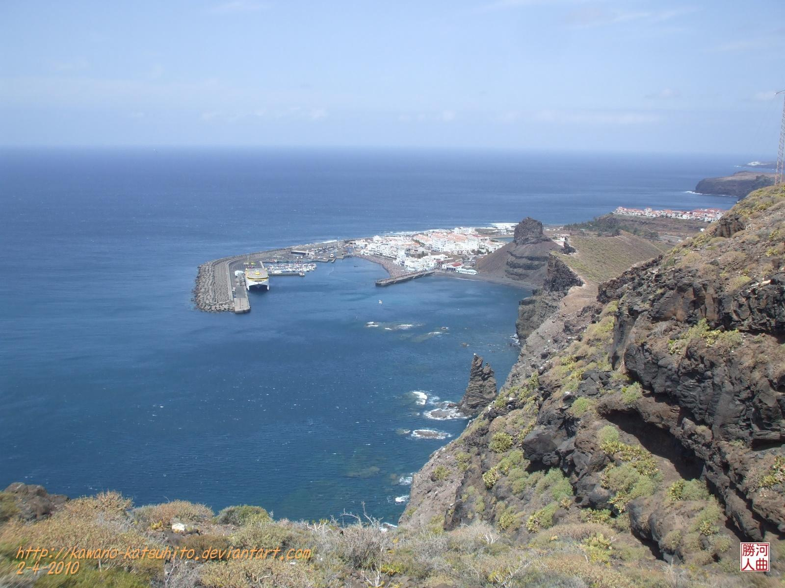 Agaete from the cliffs