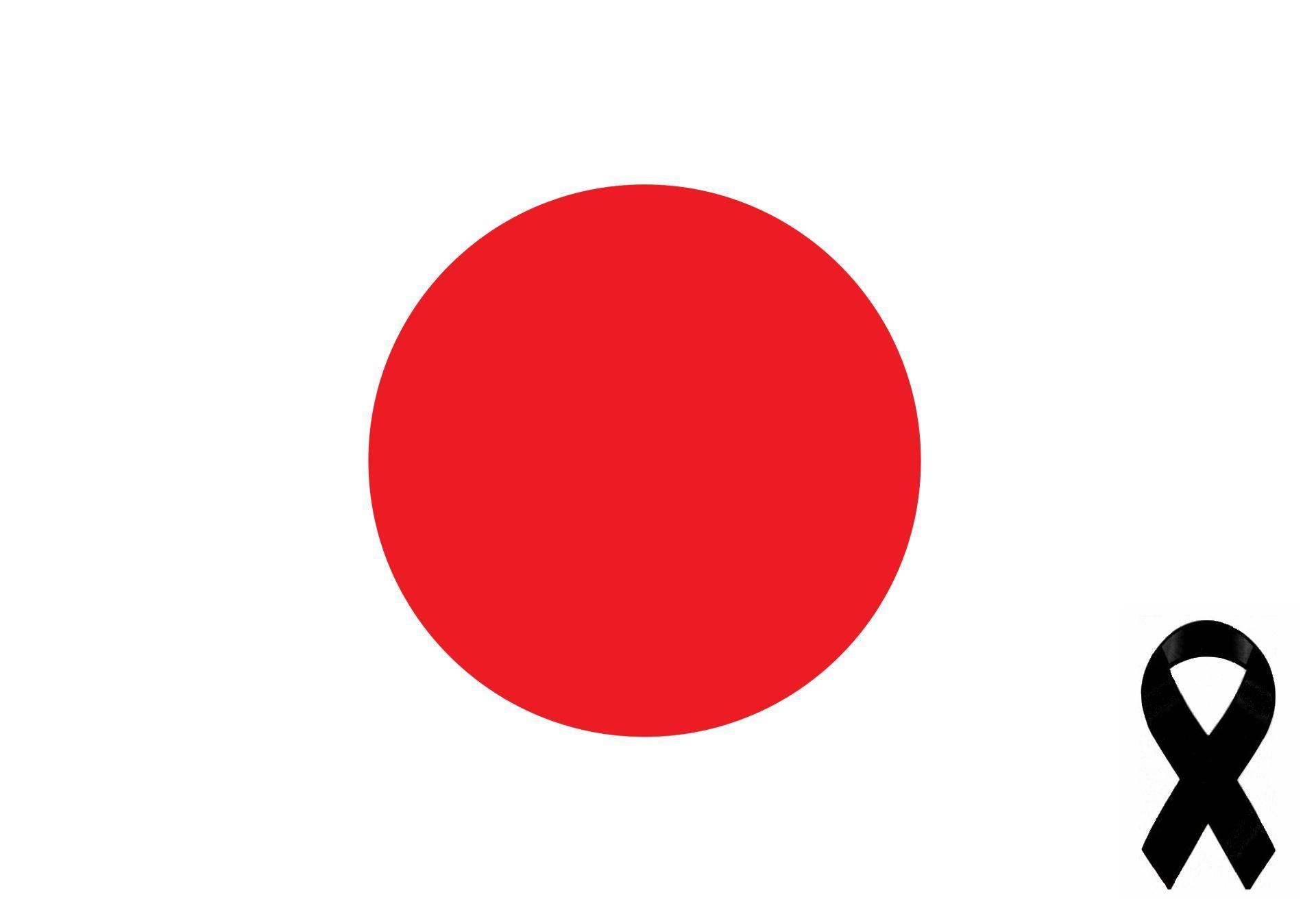 A black ribbon for Japan