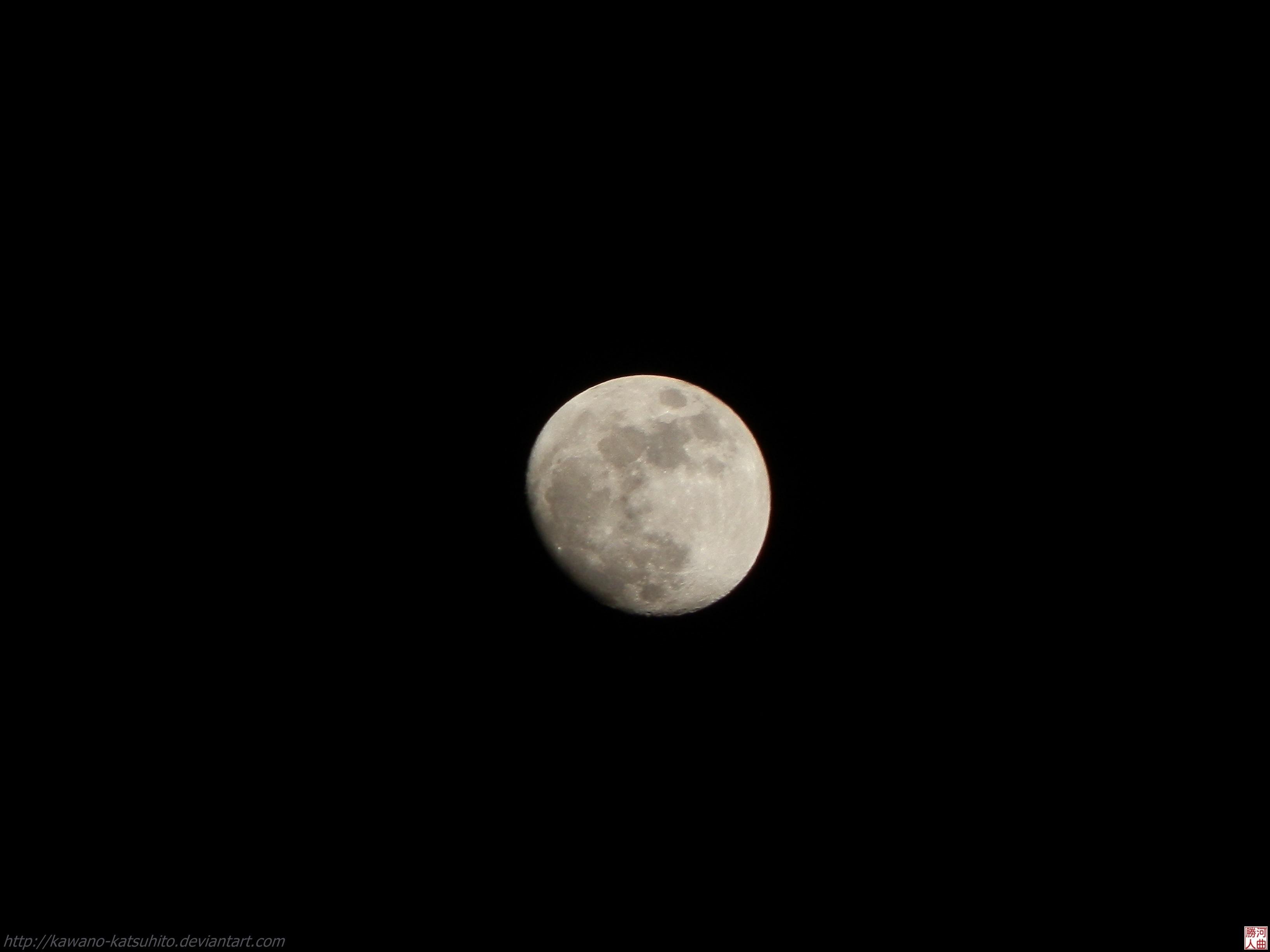 Moon at night by kawano-katsuhito
