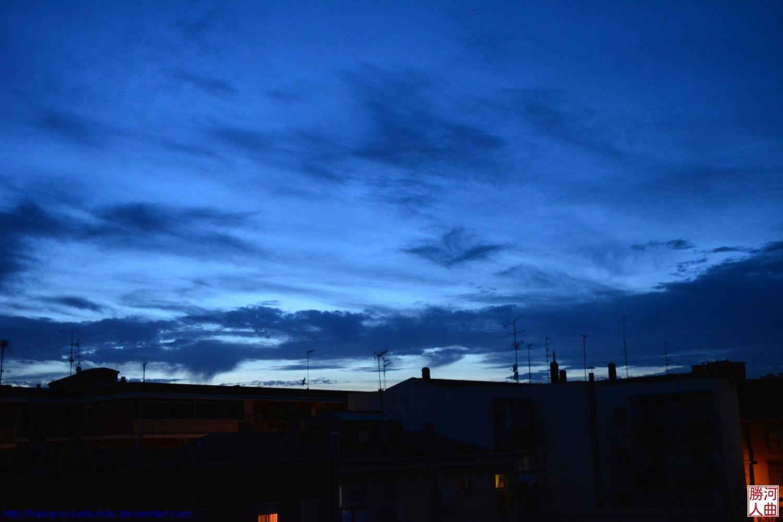 Blue dusk by kawano-katsuhito