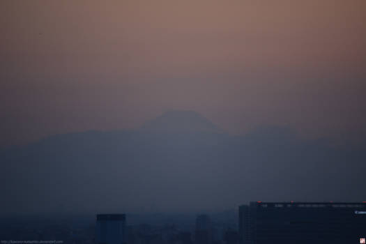 Mt Fuji seen from Odaiba