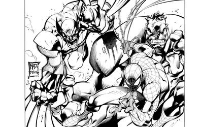 Marvel Heroes by TimTownsend