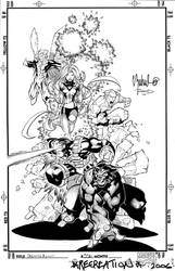 Uncanny X-Men cover recreation by TimTownsend