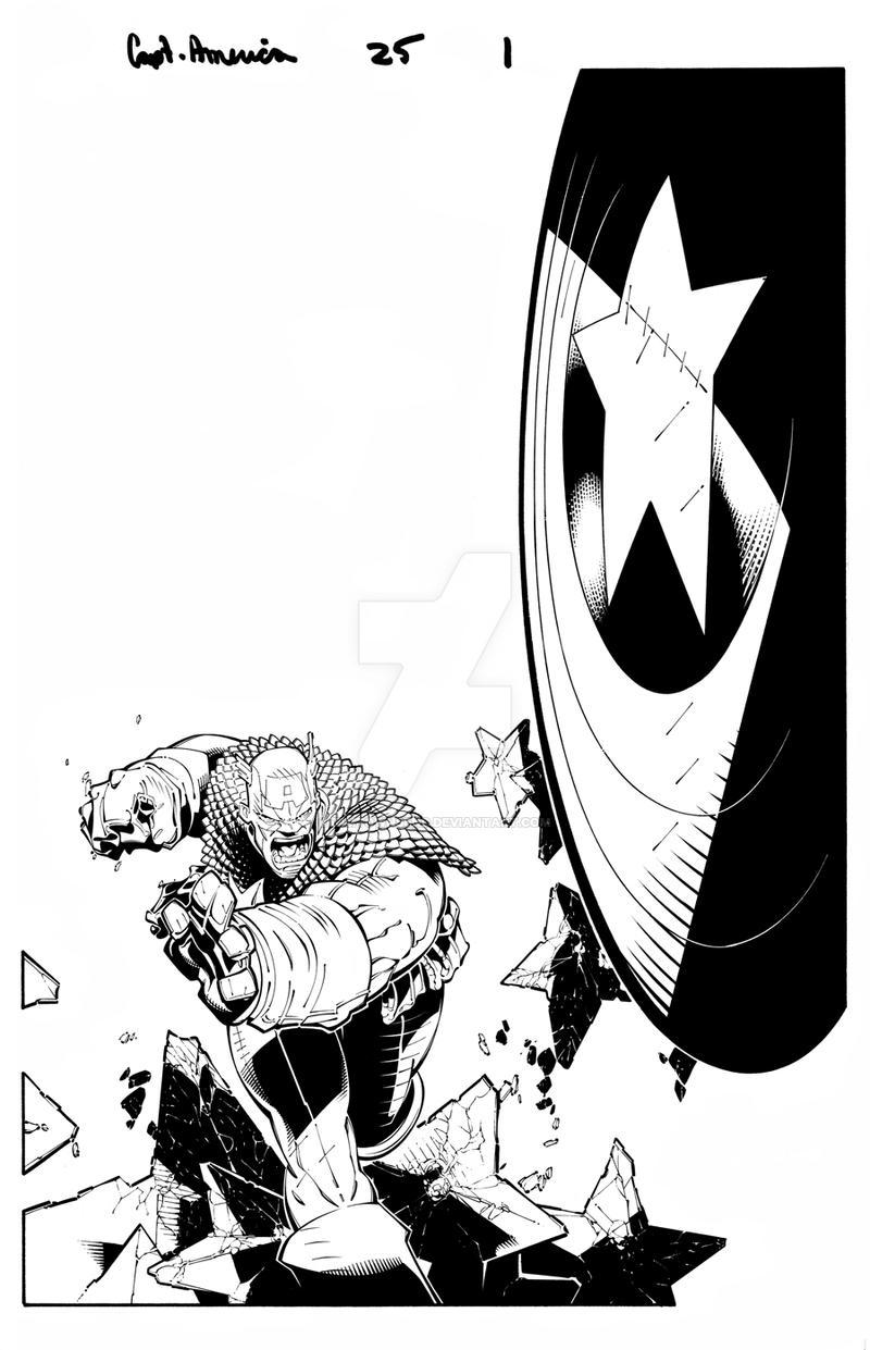 Captain America splash 6 by TimTownsend