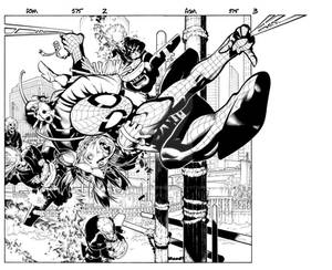 Amazing Spider Man 575 spread