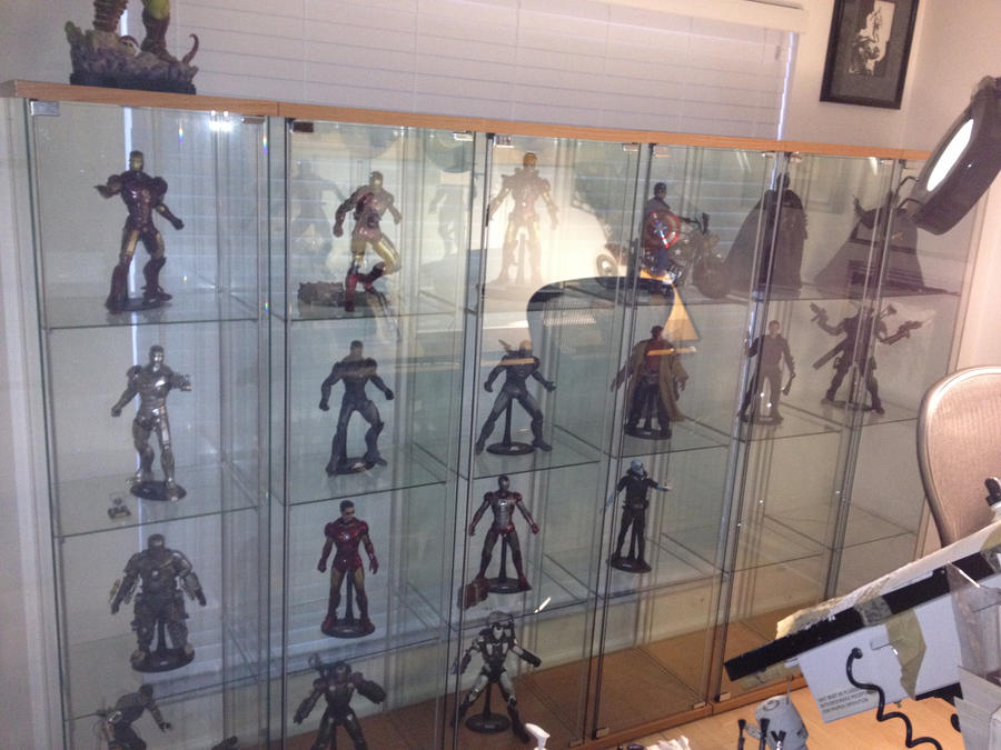 Wall o hot toys by timtownsend on deviantart for Hot toys display case ikea