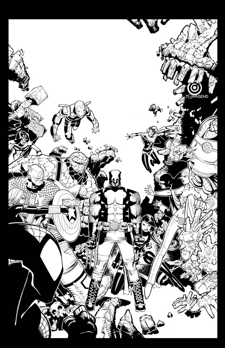 Wolverine and the X-Men #9 cover by TimTownsend