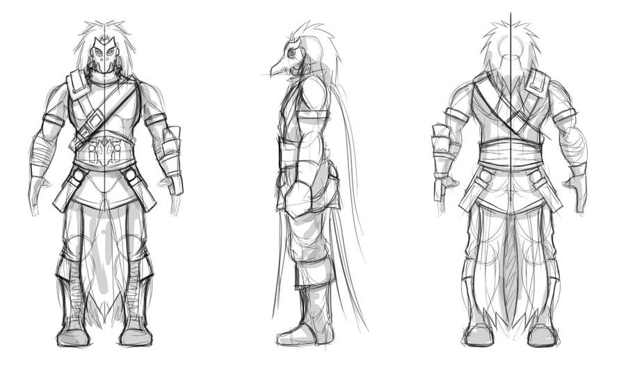 Character Design Side View : Unreal character views by gcakeith on deviantart
