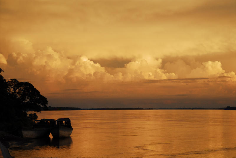 Cambodia - Mekong Sunset 1 by sevenths