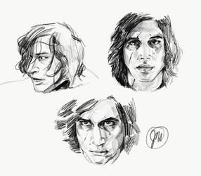 Kylo Ren / Ben Solo - Studies