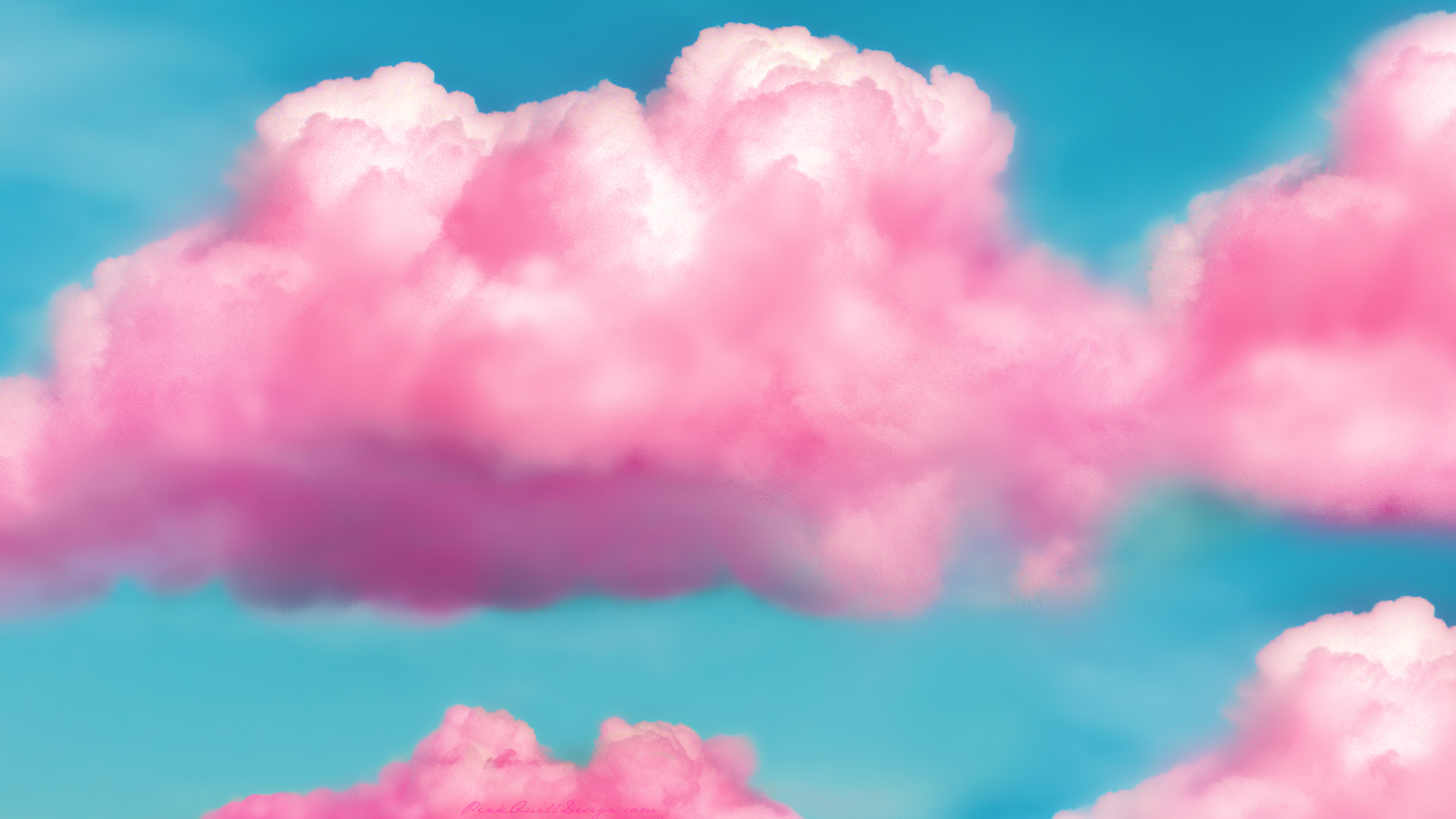 Pink Fluffy Clouds HD Wallpaper by pinkquilldesign on ...