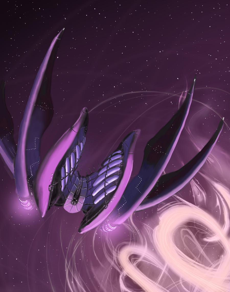 Alien Spaceship by Venishi
