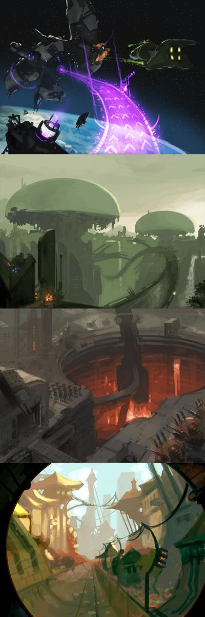 Concept Thumbnails by Venishi
