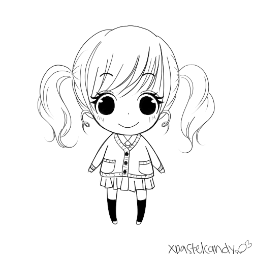 how to draw an easy little girl
