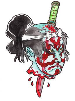 Samurai head 1