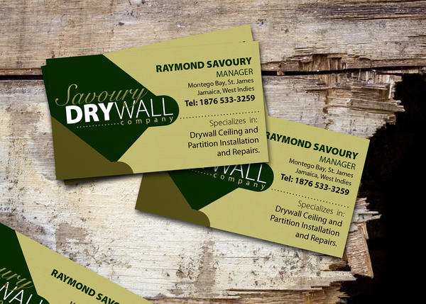 Drywall business card by artg on deviantart for Drywall business card