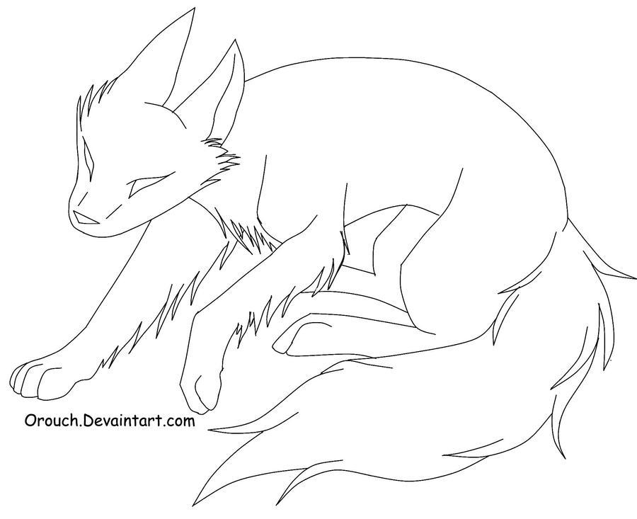 Line Art Fox : Free fox line art by orouch on deviantart