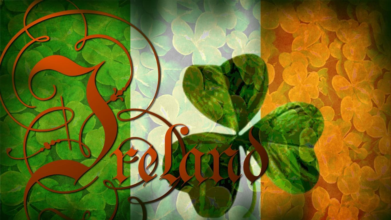 flag of ireland wallpaper by grednforgesgirl on deviantart