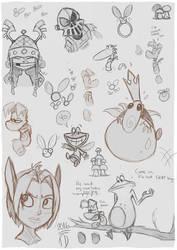 Rayman sketchdump 2016 by Tulidragon