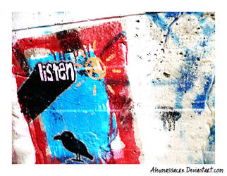 Listen graffiti by AlexMassacre