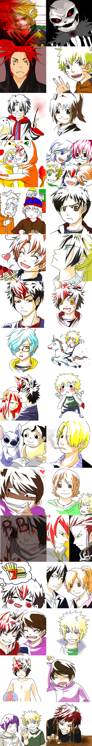 Sketch Dumpage Part Duex by AmukaUroy