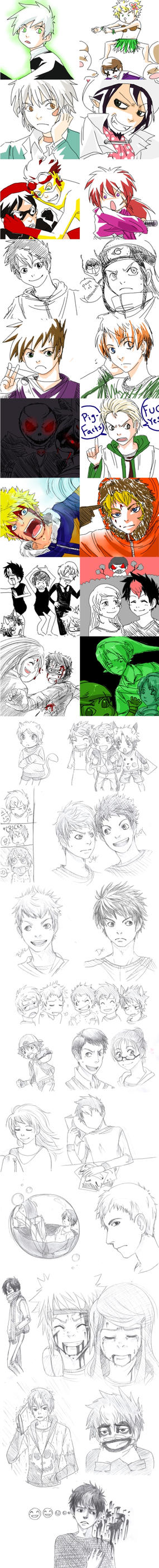 Sketch Dump IV by AmukaUroy