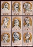 Indiana Jones Masterpieces Sketchcards by PatrickSchoenmaker