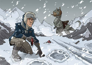 Han looking for Luke on Hoth