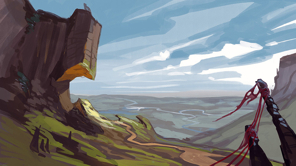 Landscape Speedpaint 001 by PatrickSchoenmaker