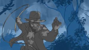 Indy through the jungle by PatrickSchoenmaker