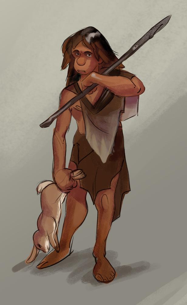 Neanderthal Boy by PatrickSchoenmaker