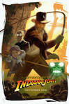 The adventures of Indiana Jones animated poster