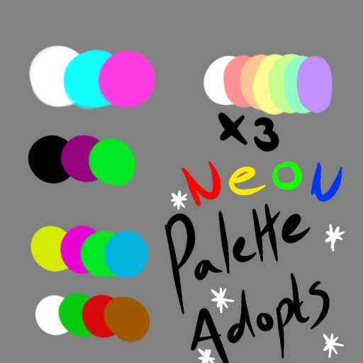 Neon Colour Pallettes - OPEN by Piyos-Adoptables