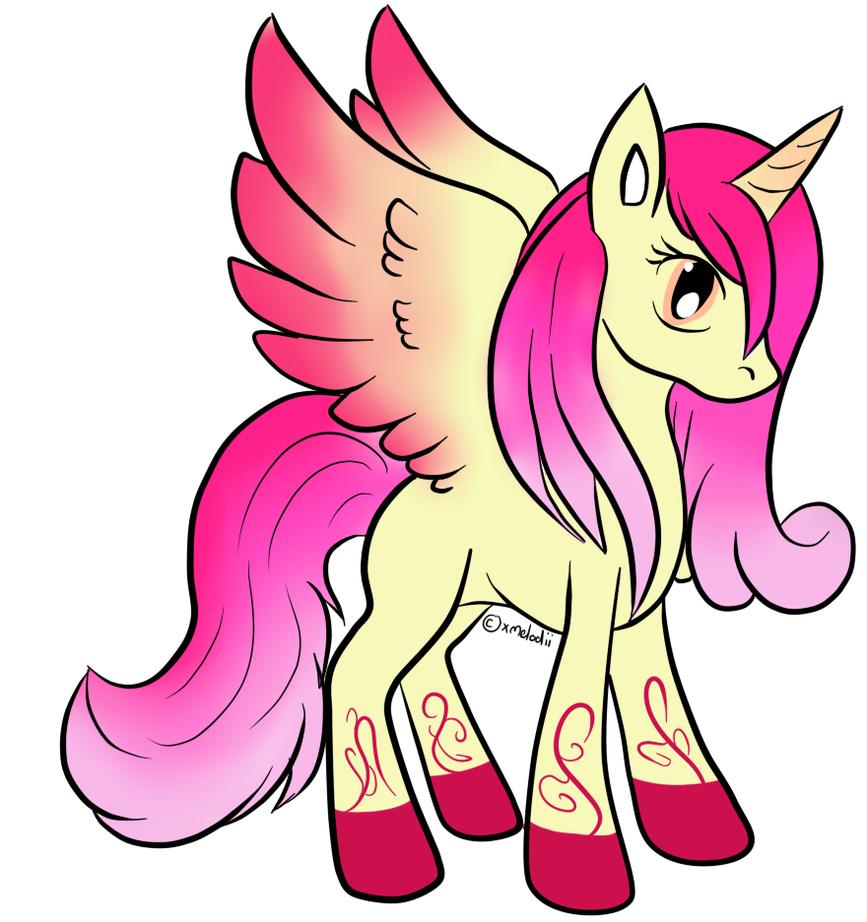 Raspberry Ripple Alicorn Adopt - CLOSED by Piyos-Adoptables