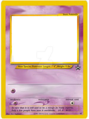 Psychic Pokemon Card Template By Trgpunisher On Deviantart