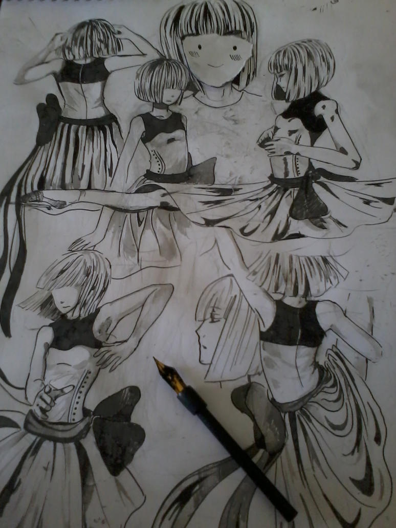 A dancer sketches by dannabannana