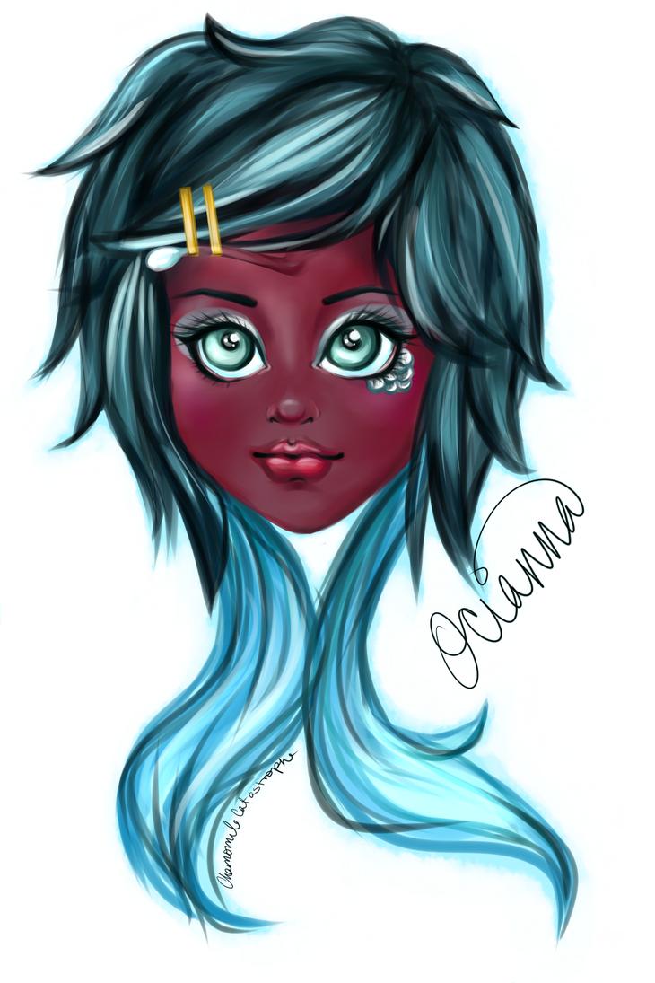Deep Sea Girl Ocianna by ChamomileCatastrophe