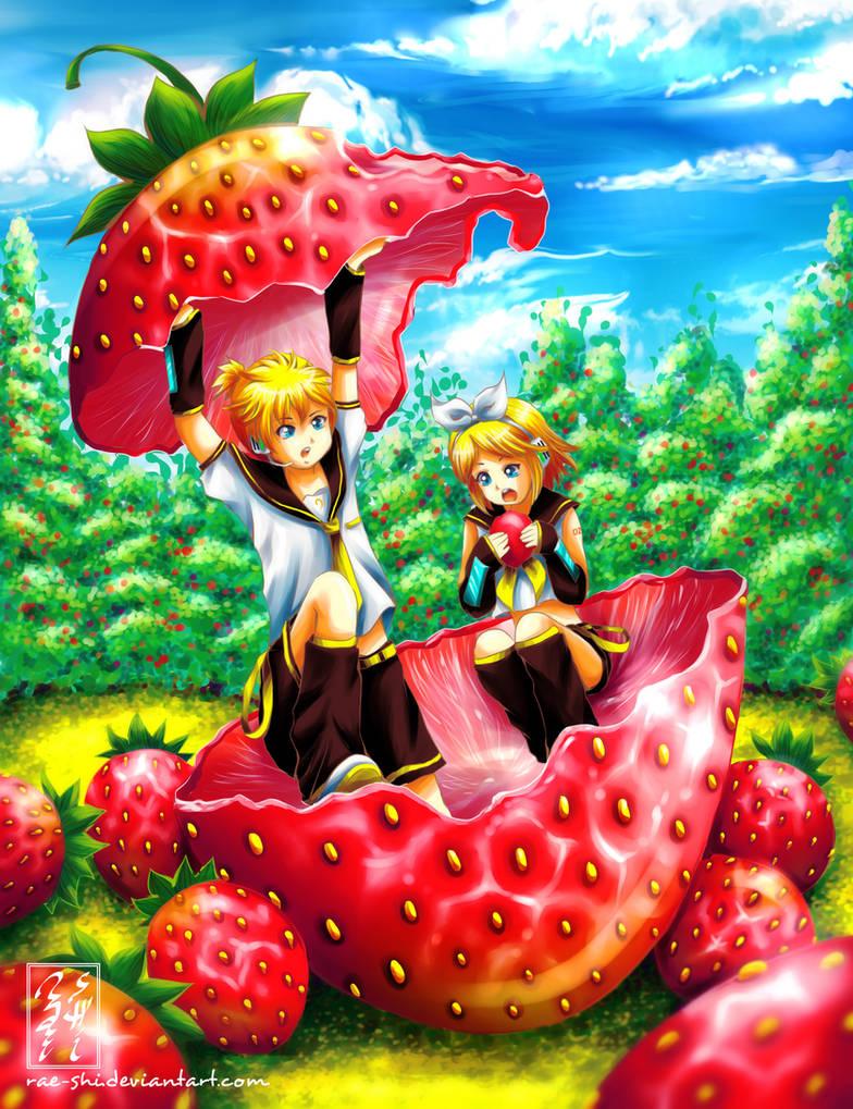 Kagamine Strawberry Nomnom