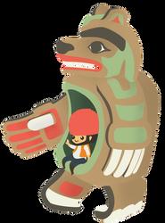 Bearshape'Dish hadai gwai  and a liliput in belly