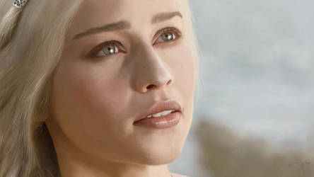 Digital Painting: Daenerys Targaryen by skARTistic