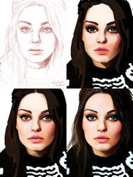 Digital Painting: Mila Kunis by skARTistic
