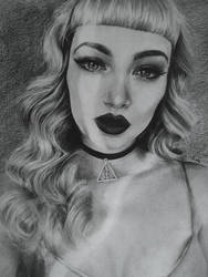 Pencil Drawing: Miss Bo, 2016. by skARTistic