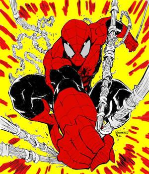 Spider Man colored art by Ryan Stegman
