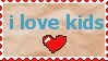 i love kids stamp by CasperDoodle