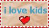 i love kids stamp by CasperDoodle