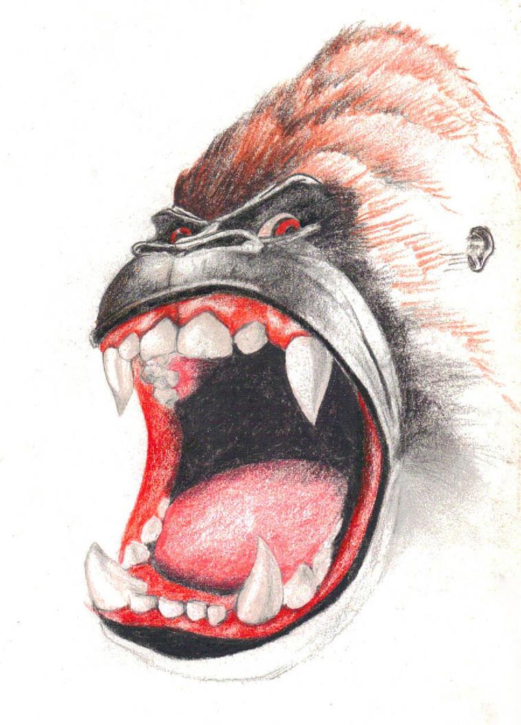 Angry Gorilla Drawing - photo#32