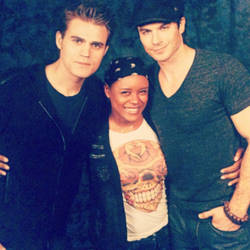 Me with Paul Wesley and Ian Somerhalder