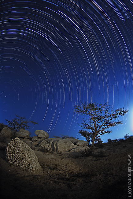 Taif Star Trails by ~almumen on DeviantART