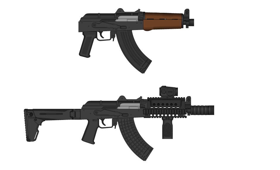 Before And After Zastava M92 Pap Conversion By Madmonty98 On